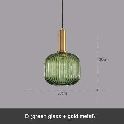 5151BuyWorld Lámpara Verde Coñac Cristal Comedor Accesorio ...