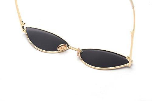 FEISEDY Fashion Designer Sunglasses Retro Small Petals Shape Arc Temple Design B2298 by FEISEDY (Image #3)