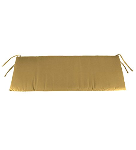 Classic Polyester Outdoor Swing/Bench Cushion, 59'' x 16'' x 3'' - Khaki