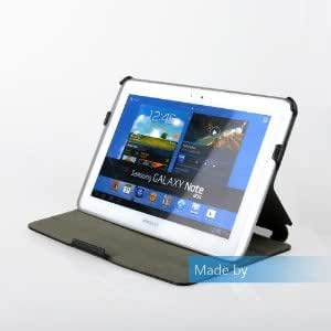 Samsung Galaxy Note 10.1 N8000 N8010 N8013 Slim-Fit Folio Cover Case With Multi-Angle Stand (Black)