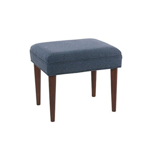 Spatial Order Dinah Modern Decorative Ottoman, Blue For Sale