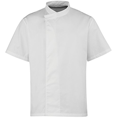 Premier Culinary Pull-On Short Sleeve Chef's Tunic - Size XS-2XL - White - S ()