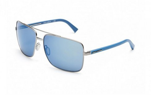Dolce & Gabbana Mens Sunglasses (DG2142) Gunmetal/Blue Metal - Non-Polarized - - Gabbana Spectacles Dolce