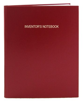 BookFactory Red Inventor's Notebook - 96 Pages (.25