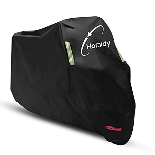 Aideng Motorcycle Cover, New Upgraded Thicker 300D Oxford All Season Super Waterproof Motorcycle Rain Cover Breathable Bicycles Shelter Cover for XXL-104 inches Harley, Triumph, Suzuki, Honda-Green by Aideng