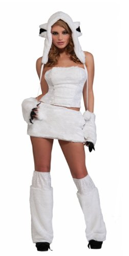 Adult Sexy Polar Bear Costume - Rave Wear - Christmas Size: Xtra Small/Small (Sexy Polar Bear Costume)