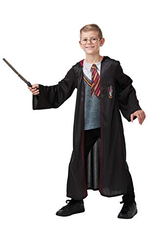 Rubie's Official Harry Potter Gryffindor Deluxe Robe Costume, Includes Wand and Glasses, Childs Age 11-12 Years