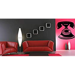 Tomikko Wall Art Vinyl Sticker Room Decal Mural Decor Old Telephone Retro Mobile bo1695 | Model DCR - 662