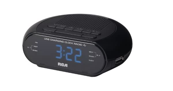 Amazon.com: RCA USB de carga Radio Reloj Negro: Home Audio ...