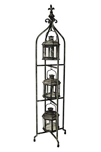 PierSurplus Metal Candle Lanterns with Stand - Three-Tier Lantern Stand for Yard Product SKU: CL221880 by PierSurplus (Image #3)