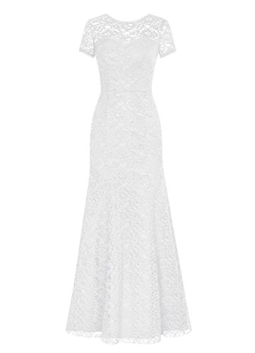 Meerjungfrau Rot Kleid of the Kleides Sleeves Mother Women' Ivory Bride Spitzen Fanciest Kurz wqPpBxBzH