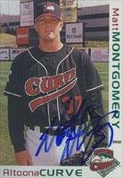 Matt Montgomery Altoona Curve - Pirates Affiliate 2002 Grandstand Autographed Card - Minor League Card. This item comes with a certificate of authenticity from Autograph-Sports. Autographed