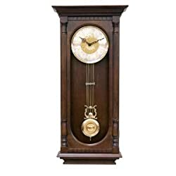 Hermle 70802-Q12214 Chatham Walnut Wall Clock