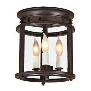 Gold Hill Flush Fixture (Murray Hill 3 Light Small Bent Flush Mount)