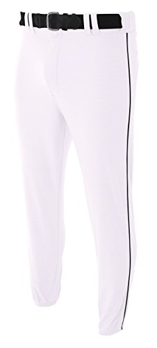 A4 N6178-WHB Pro-Style Elastic Bottom Baseball Pants, Large (Pro Style Baseball Jersey)