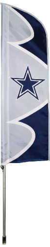 Flag Banners Nfl Flags And - Party Animal Dallas Cowboys NFL Swooper Flag and Pole