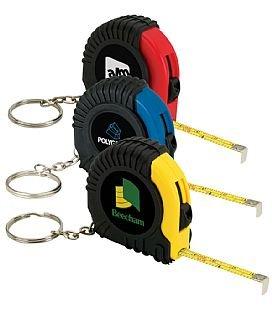 6 Feet Long Keychain Tape Measure- 2 Pack - Thumb Power Lock (Shock Resistant Tape Measure)