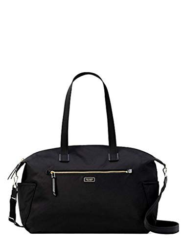 Kate Spade New York Weekender Travel Bag Dawn Black Nylon LARGE DUFFLE