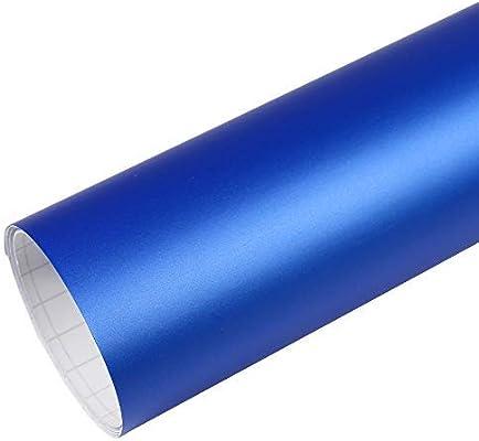 Rapid Teck Premium - Película Auto sin Burbuja con Conductos de Aire para Coche Laminado y 3D Pegar en Mate Brillo y Carbono - Mate Azul Metalizado, 3m x 1,52 m: Amazon.es: Hogar