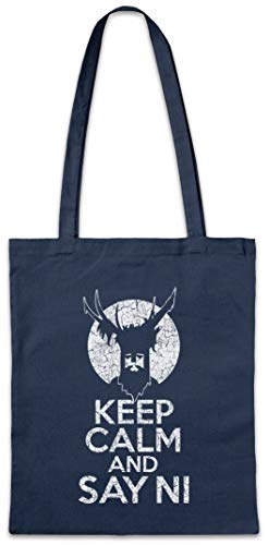 (Keep Calm And Say Ni Reusable Hipster Shopper Shopping Cotton Bag )