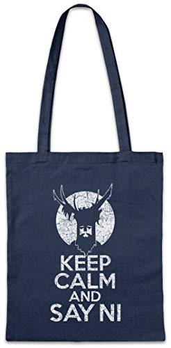 Keep Calm And Say Ni Reusable Hipster Shopper Shopping Cotton Bag