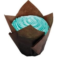 Hoffmaster Large Chocolate Tulip Cup, 2 1/4 x 2 3/4 to 4 inch -- 1000 per case. by Hoffmaster