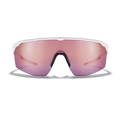 ROKA SR-1x APEX Advanced Sports Performance Ultra Light Weight Sunglasses Men Women Enhanced Field View - White Frame - HC Ion Mirror ()