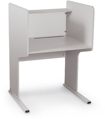 Balt FNL Privacy Starter Study Carrel, Gray - Back Study Carrel
