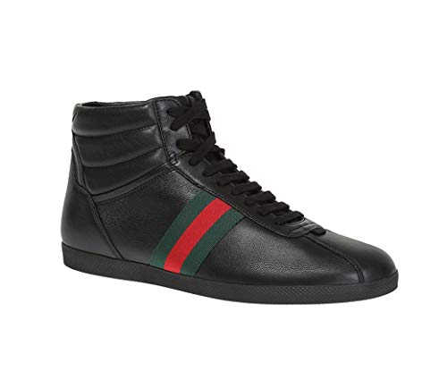 Gucci Men's Web Detail Hi-top Sneakers, Black (Nero) for sale  Delivered anywhere in USA