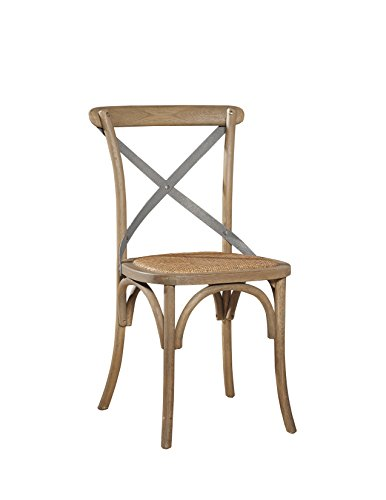 Sloane Elliot SE0019 Parisian Bistro Chair, Natural Wood Finish, Set of 2