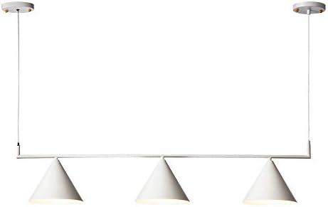Hyperikon Bar Pendant Lighting, 43 Inch 3 Cones Linear, Island Pool Table Lighting Fixture, White, E26, Hardwired Lamp Alva , UL