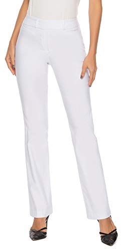 iChosy Women's Pull On Barely Bootcut Stretch Dress Pants (Small x 29