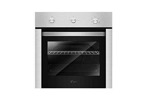 Empava 24″ Stainless Steel Built-in NG/LPG Convertible Broil/Rotisserie Function Under Counter Gas Single Wall Ovens EMPV-24XWOD04, 24 Inch