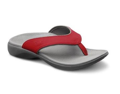 Dr. Comfort Womens Shannon Diabetic Orthotic Thong Slipper: Red 9 (C/D) -