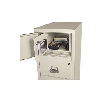 FireKing 4 2131 CSF 4 Drawer Legal W/ Safe In A File Fire/Impact Resistant  Vertical File