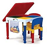 2-in-1 Kids Tot Tutors Construction Table W/chairs by Tot Tutors