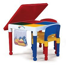 2 in 1 kids tot tutors construction table w chairs toys games. Black Bedroom Furniture Sets. Home Design Ideas