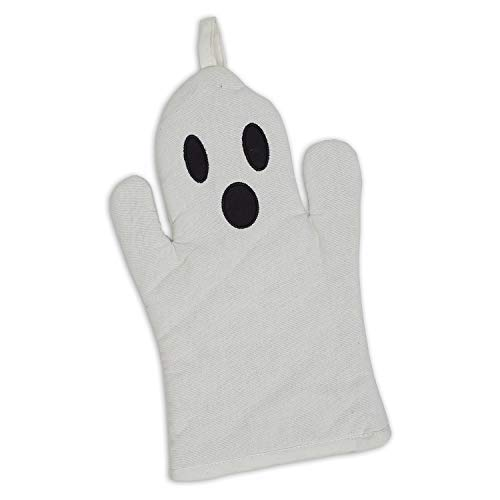 Design Imports Spooky Halloween White Ghost Oven Mitt One Size]()