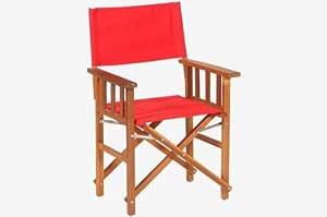 Amazon Com Brazilian Cherry Wood Directors Chair Red