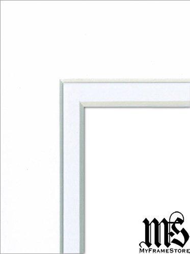 MyFrameStore 8x10 into 5x7 Matt Board White with White Core
