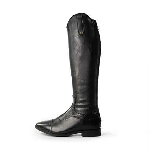 Air Casperia Brogini En Boot Equitation Cuir D'quitation Stretch Comptition Plein Noir pR1q016