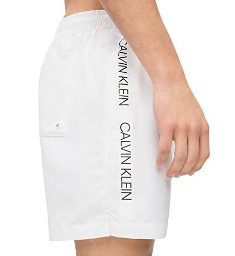 Short Calvin De Homme Klein Medium Drawstring Blanc Bain 100 rwqFTtwnB