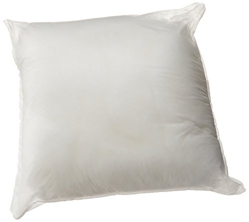 DreamHome – 18″ X 18″ Square Poly Pillow Insert (1, White)