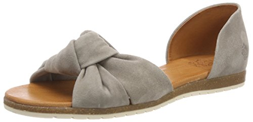 Apple Eden Grau Sandalen of Grey Chelsea Peeptoe Damen 7rxa7nwq8