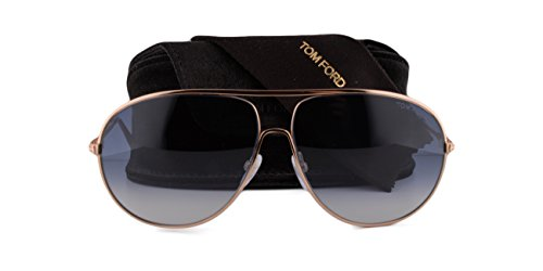 Tom Ford Cliff FT0450 Sunglasses Shiny Rose Gold w/Green Blue Gradient Lens 28P TF0450 450 For - Ford Sale Aviators Tom