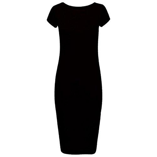 Courtes Manches Ahr Moulante Noir Robe Manchester Ltd Femme CXIqwTU