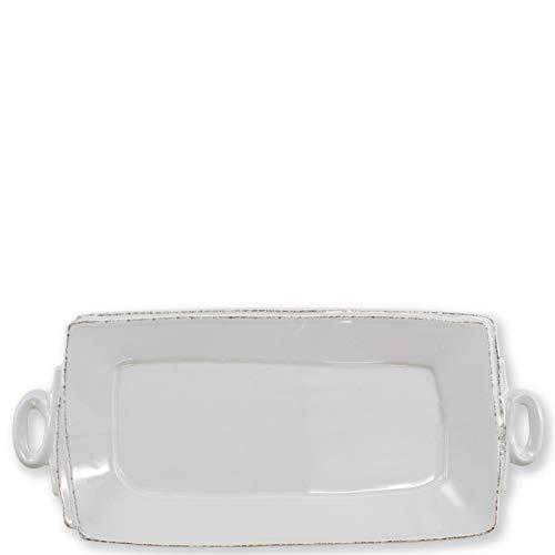 Vietri Lastra Light Gray Handled Rectangular Platter