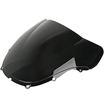 XFMT Motor Double Bubble Black Windshield Windscreen Compatible with 2003-2004 Honda CBR 600RR F5