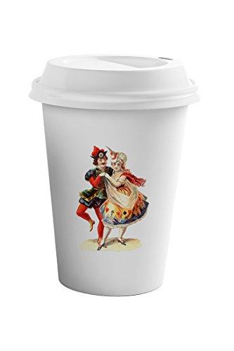 Style In Print Carnival Dance Vintage Look Coffee Ceramic Travel Tumbler Mug 11oz by Style in Print (Image #2)
