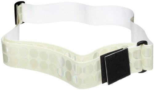 "Cyalume Cyflect Photoluminescent Reflective PT Belt, Perfect for Running, Military Issued - 2"" W x 5-1/2' L (White)"
